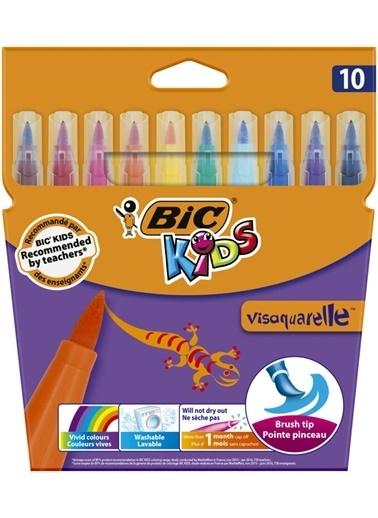 Bic Visaquarelle 10 Renk Fırça Uçlu Keçeli Boya 828964 Renkli